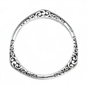 925-Sterling-Silver-Bangle-Bracelet-Charm-Ladies-Womens-Jewelry-Best-Gift