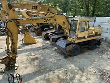 1993 Cat Caterpillar 214b Ft Fast Travel Mobile Rubber Tired Wheeled Excavator