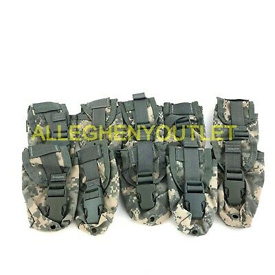 Lot of 10 USGI Military MOLLE II Flashbang Flash Bang Grenade Pouch ACU NEW
