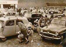 PARIS 1956 - Gare Montparnasse Taxis - Photo de Presse