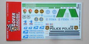 GOFER DECALS U S GOVERNMENT VEHICLES DECALS11057