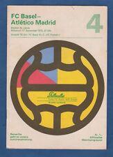 Orig.PRG   EC 2   1975/76   FC BASEL - ATLETICO MADRID  !!  SELTEN