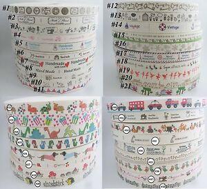 15MM-Width-Printed-Cotton-Ribbons-45-Models-DIY-Scrapbook-Handmade-Ribbon-Label