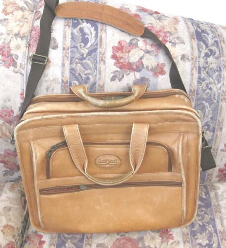 CLAIRE CHASE Genuine Leather Brown Briefcase