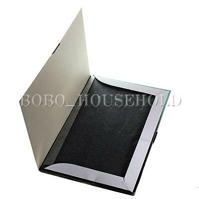 100 Sheets Stencil Paper Copy Hectograph Transfer Carbon Repro A4 21*33cm Black
