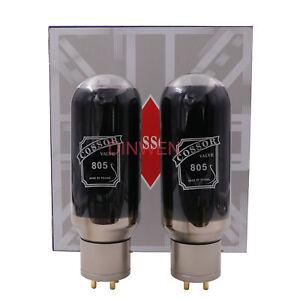 PSVANE COSSOR 805 Vacuum Tubes Replace FU-5 Black Bulb Factory Test Match Pair*1
