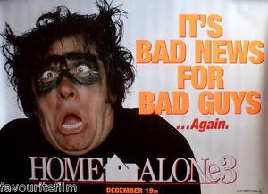 Cinema Poster Home Alone 3 1997 Bad2 Quad Alex D Linz Olek Krupa Rya Kihlste Ebay