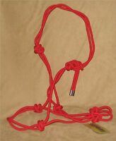 Poly Rope Horse Halter Red Cowboy Rope Halter Horse Tack