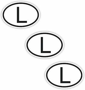 Image Is Loading 3x Black Amp White Oval Stickers Luxembourg Small