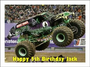 Incredible Grave Digger Monster Truck Edible Icing Birthday Cake Decoration Funny Birthday Cards Online Alyptdamsfinfo