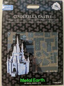 NEW Disney Parks Cinderella Castle Blue Color Metal Earth 3D Model Kits