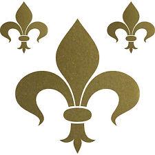 Set gold Florentiner Lilie Fleur de Lis Aufkleber Tattoo die cut Deko Folie