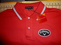 Mens Large Saks Fifth Avenue Red Callaway Cotton Polo Shirt -