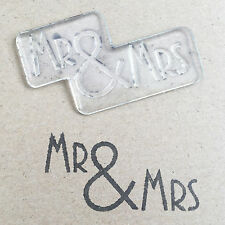 Dovecraft Clear Cling Stamp - Mr & Mrs - Wedding Stationery Invitation - UK MADE