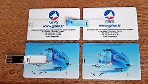 Lot de 4 Clés USB de 4GO au format carte publicitaire Gifas * NEUVE *