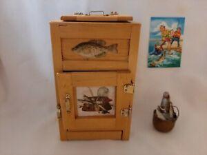 Miniature Dollhouse Furniture Lot Price Products Furniture Wood Vintage Ice Box Ebay