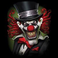 Crazy Clown Shirt, Joker, Evil, Scary, Jester, Skeleton, Sinister, Small - 5x