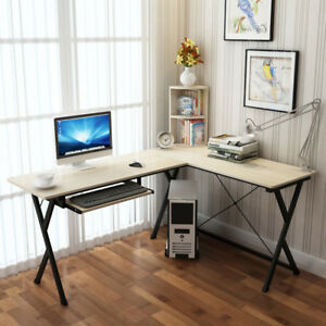 ZJ1-Large-Corner-Computer-PC-Desk-Home-Office-Furniture-Drawer-amp-Shelf-Table
