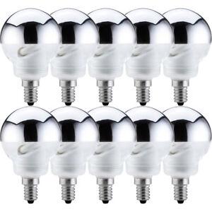 10-X-Paulmann-ESL-Lampe-a-economie-d-039-energie-Globe-G60-7W-25W-E14