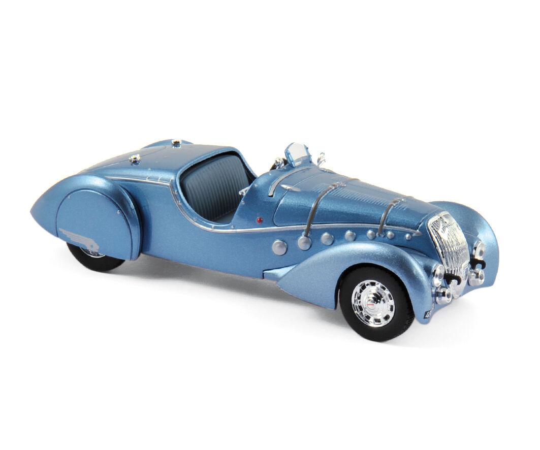 Norev 473206 - peugeot 302 darl'mat roadster 1937 blau metallic 1   43