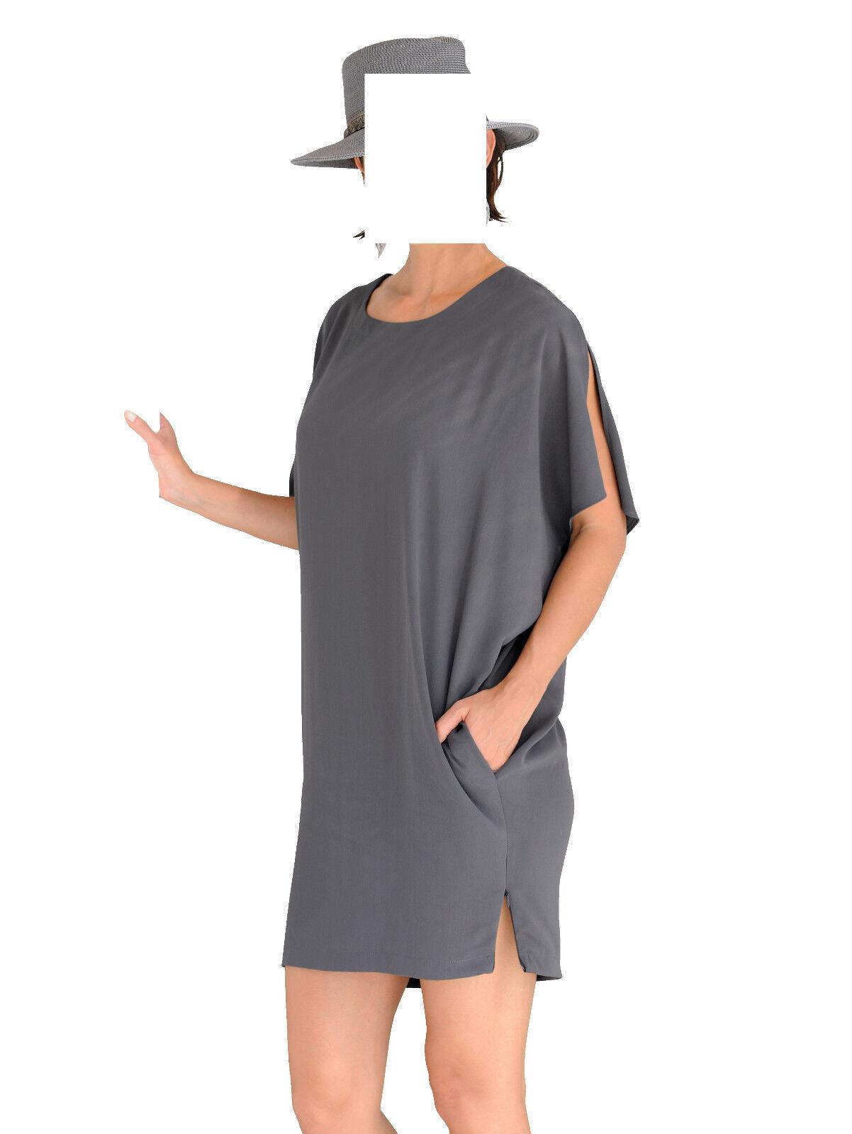 Marken Oversized-Kleid grey  Gr. 48 0318514752