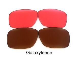 Galaxie-PRIZM-Technologie-verres-de-rechange-pour-Oakley-Holbrook-marron-rubis