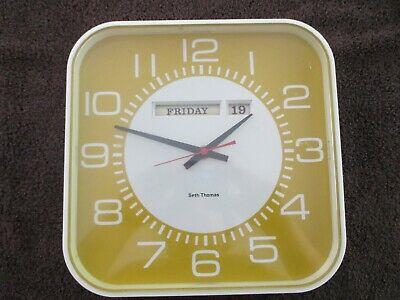Vintage Seth Thomas Wall Clock 2675 Kitchen Date Model Rare For Repair Parts Ebay