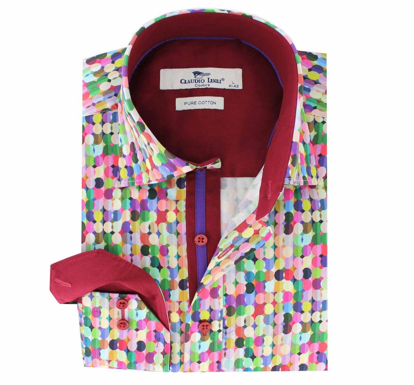 Claudio Lugli Mens shirt -S- CL211 Sweets pattern