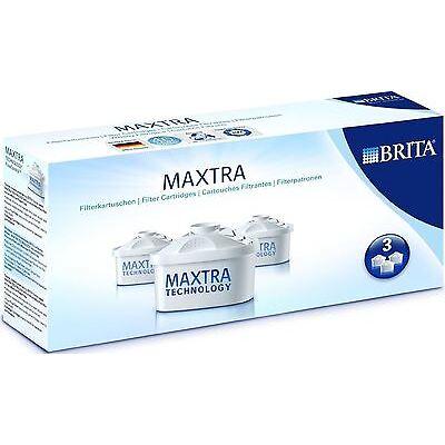 Brita Maxtra 3 Pack Water Filter Jug Refills Genuine Replacement Cartridges