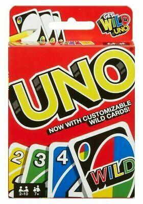UNO WILD CARD GAME FAMILY FUN CHILDREN ADULT INDOOR TRAVEL PARTY GAME UK