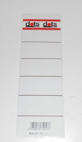 30 Ordnerrücken Rückenschilder Etiketten selbstklebend für breite Ordner