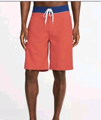 10 inch Shorts Board Shorts for Men  Red  46W New with tags swim wear,