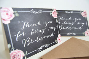 thank you for being my bridesmaid cards chalkboard ebay