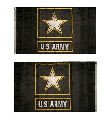 US Army Star Double Sided Embroidered Flag 3/'x5/'