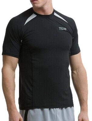 Tca Quickdry Mens Short Sleeve Running Top - Black