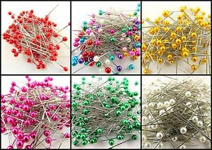 66870//66890 CRAFT PINS 144 PEARLISED AND ASSORTED COLOURS
