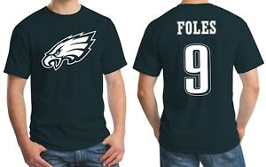 buy popular db7c9 ad507 Details about New Philadelphia Eagles Nick Foles 9 Jersey Logo T-Shirt  Men's Small - 3XL Green