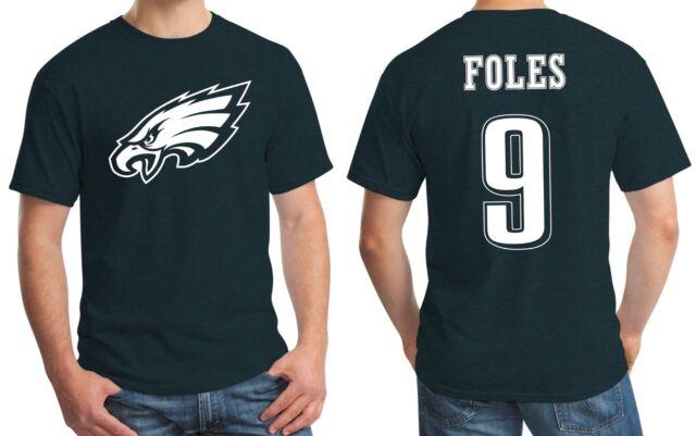 pretty nice 78cf9 76319 New Philadelphia Eagles Nick Foles 9 Jersey Logo T-Shirt Men's Small - 3XL  Green