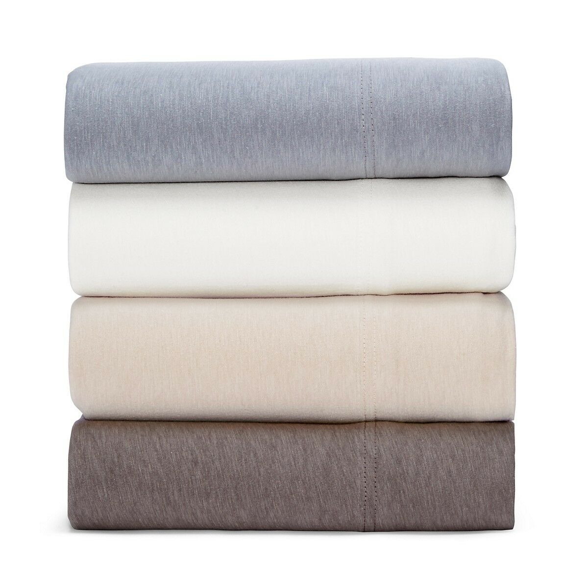 NEW Oake Bedding Jersey Collection 100% Cotton KING Sheet Set Weiß  175 G2781