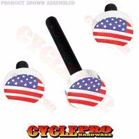 Silver Billet Fairing Windshield Hardware Kit 14-up Harley - Usa American Flag