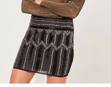 Women's Miss Guided Premium All Over Embellished Mini Skirt Size 8