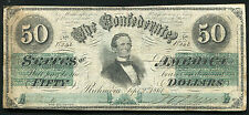 T-16 1861 $50 FIFTY DOLLARS CSA CONFEDERATE STATES OF AMERICA
