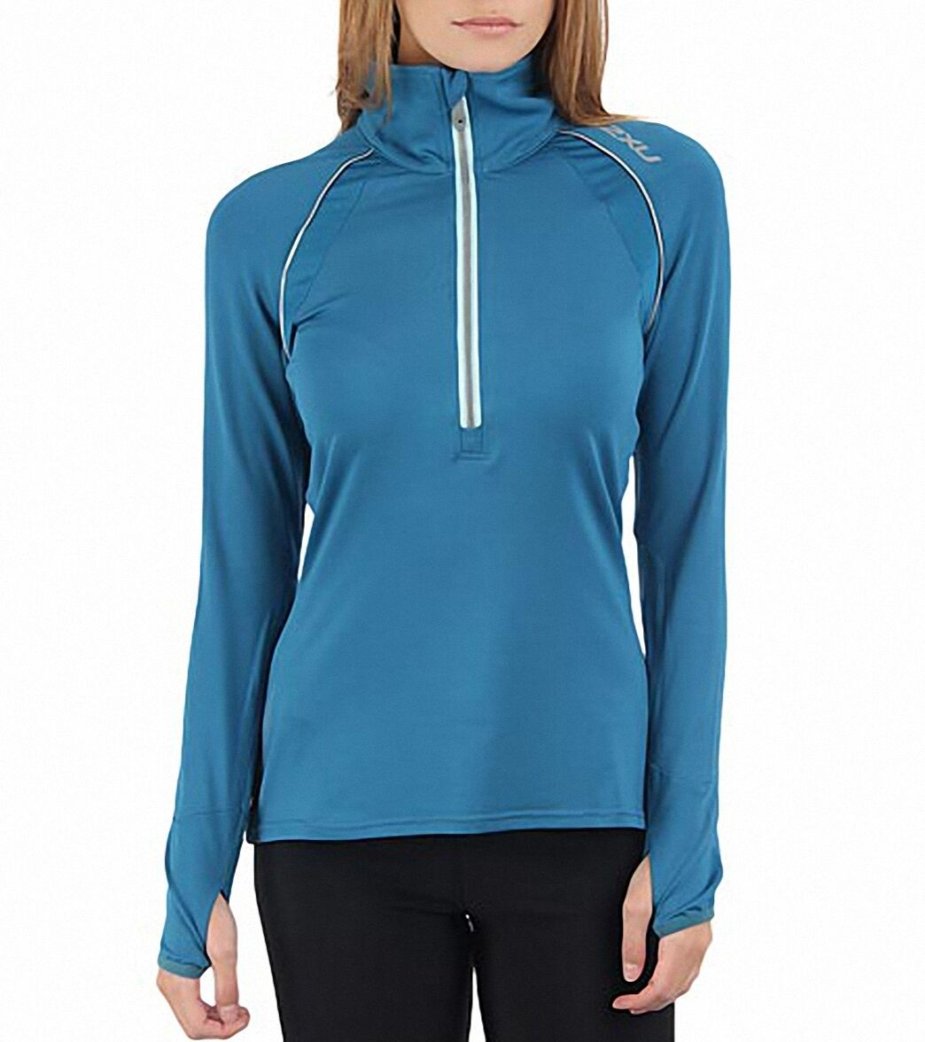 2XU Micro Thermal Top Women Running  WR2172a Rain Frost S  up to 50% off