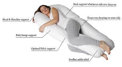 U Cuscino Maternità Gravidanza Allattamento Supporto Confortevole Tutte Le Taglie U Cuscino Solo-