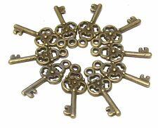 44mm  Keys 10 Copper Ornate Alice in Wonderland Key NF LF CF Steampunk Charms
