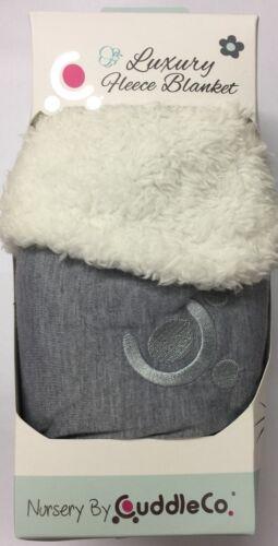 BNIP Baby Luxury Fleece Reversible Grey Blanket 90x70cm Beautiful Gift