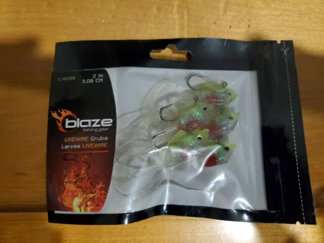 Blaze Fishing Bait Rcm2-pd 2 Rigged Livewire Grub 5 PK Pearl //dace for sale online