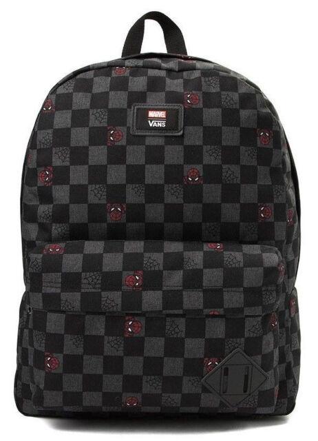 fb88c048b88 NWT VANS Marvel Old Skool II BACKPACK School Book Bag SPIDERMAN Black Grey  0044