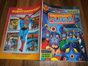 Superman präsentiert -- GERECHTIGKEITSLIGA Album  # 17 von 1981 mit Sammelecke