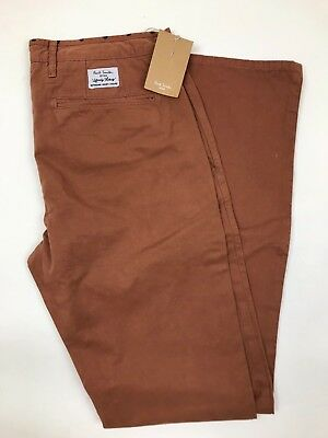 """Aufrichtig Paul Smith Jeans *new With Tags* Rrp £100 Und Verdauung Hilft Red/orange Tapered Jeans 30"""""""